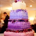 Wedding Cake in Shades of Purple