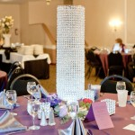 Tall Crystal Centerpieces