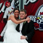 Jamie & Bill Newleyweds at Busch Stadium St. Louis, MO