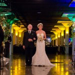 Anna and her Father go down the aisle