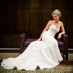Anna waiting for her Groom before her St. Louis Wedding