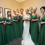 Anna with all her Bridesmaids at her St. Louis Wedding
