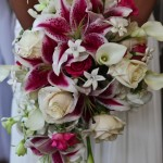 Jamie's Beautiful Bridal Bouquet ... Roses and Star Gazer Lily